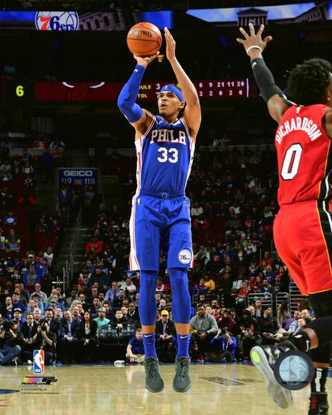 "Tobias Harris Action Taking a Shot Philadelphia 76ers NBA Basketball 8"" x 10"" Photo - Dynasty Sports & Framing"