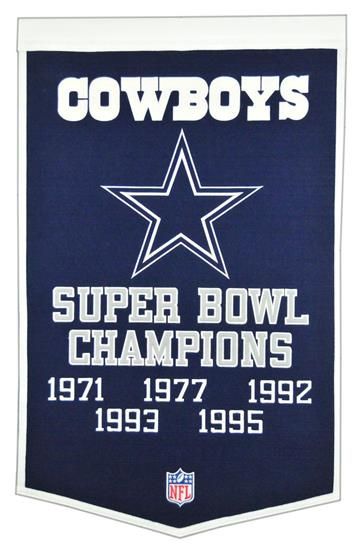 Dallas Cowboys NFL Super Bowl Dynasty Banner