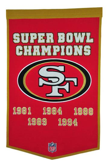 San Francisco 49ers NFL Dynasty Banner - Dynasty Sports & Framing