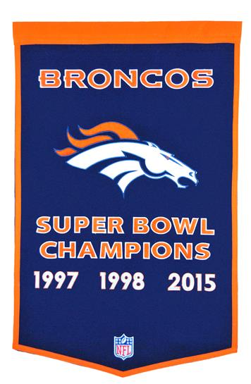 Denver Broncos NFL Dynasty Banner - Dynasty Sports & Framing