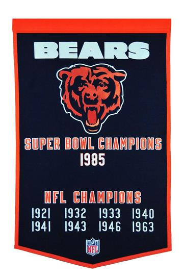 Chicago Bears NFL Dynasty Banner - Dynasty Sports & Framing