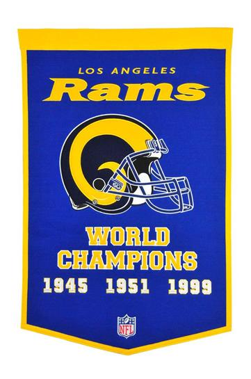 Los Angeles Rams NFL Dynasty Banner