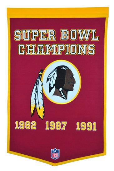 Washington Redskins NFL Dynasty Banner