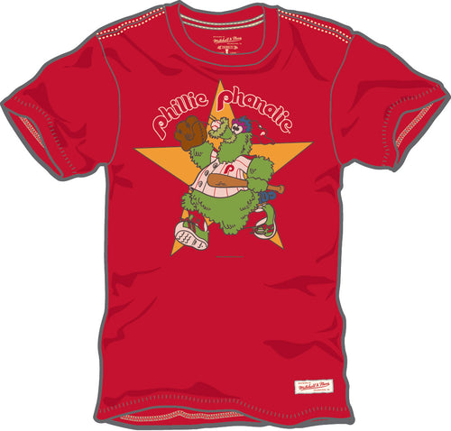 Phillie Phanatic Mitchell & Ness Throwback Logo T-Shirt - Dynasty Sports & Framing
