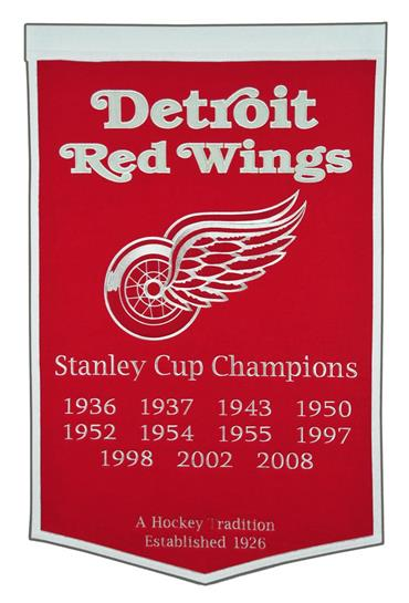 Detroit Red Wings NHL Dynasty Banner