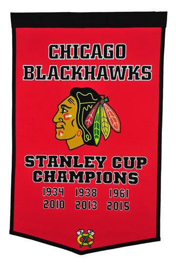 Chicago Blackhawks NHL Dynasty Banner - Dynasty Sports & Framing