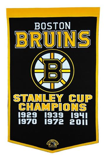 Boston Bruins Stanley Cup NHL Hockey Championship Dynasty Banner