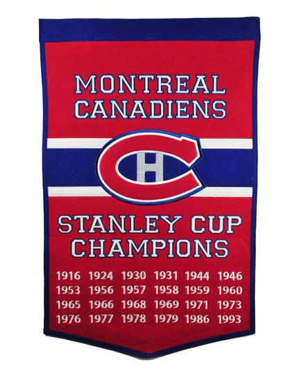 Montreal Canadiens NHL Dynasty Banner - Dynasty Sports & Framing