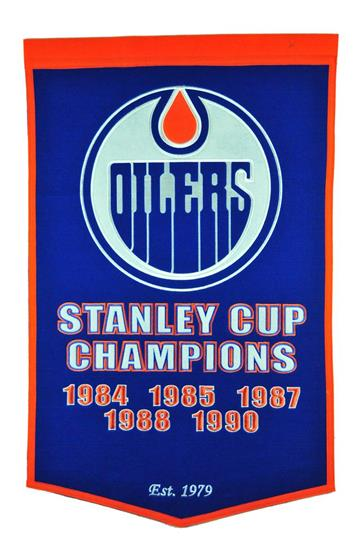 Edmonton Oilers NHL Dynasty Banner - Dynasty Sports & Framing