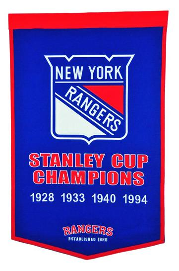 New York Rangers NHL Dynasty Banner - Dynasty Sports & Framing