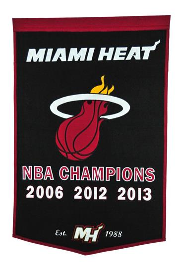 Miami Heat NBA Dynasty Banner - Dynasty Sports & Framing