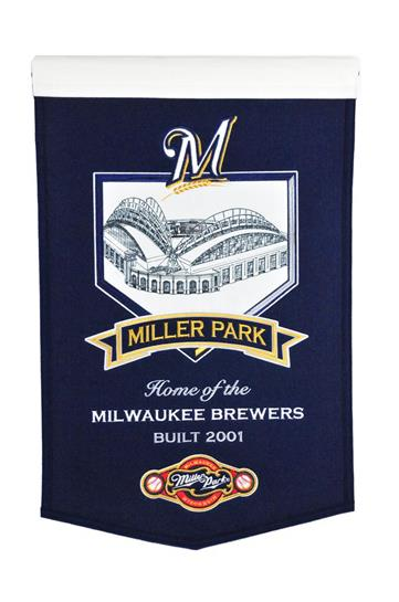 Milwaukee Brewers Miller Park Stadium Banner