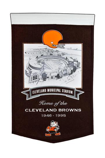 Cleveland Browns Cleveland Municipal Stadium Banner - Dynasty Sports & Framing