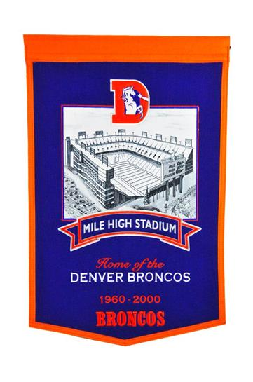 Denver Broncos Mile High Stadium Banner - Dynasty Sports & Framing