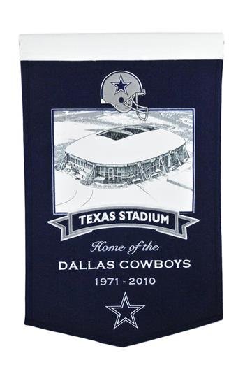 Dallas Cowboys Texas Stadium Wool Banner