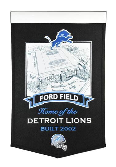 Detroit Lions Ford Field Stadium Banner - Dynasty Sports & Framing
