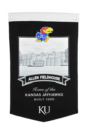 Kansas Jayhawks Allen Fieldhouse Stadium Banner - Dynasty Sports & Framing