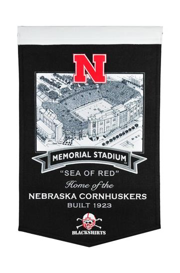 Nebraska Cornhuskers Nebraska Memorial Stadium Banner - Dynasty Sports & Framing