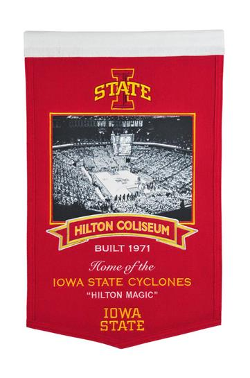 Iowa State Cyclones Hilton Coliseum Stadium Banner - Dynasty Sports & Framing