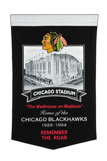 Chicago Blackhawks Chicago Stadium Banner - Dynasty Sports & Framing