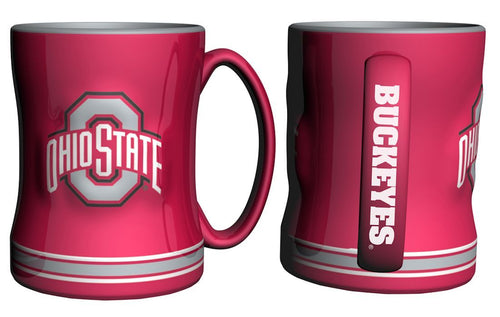Ohio State Buckeyes NCAA College Logo Relief 14 oz. Mug - Dynasty Sports & Framing