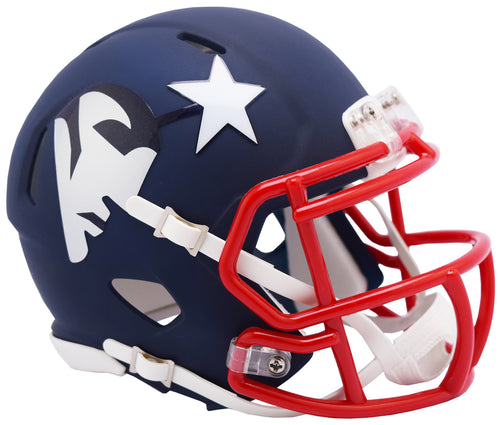 New England Patriots Amp Alternative Riddell Speed Mini Helmet - Dynasty Sports & Framing