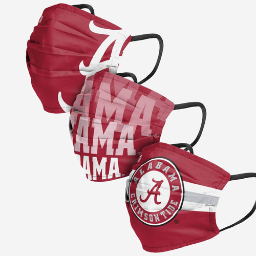 Alabama Crimson Tide 3-Pack Match Day Face Mask Covers - Dynasty Sports & Framing