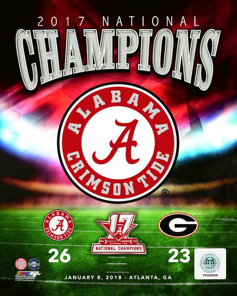 "Alabama Crimson Tide 2017 National Champions College Football 8"" x 10"" Photo"