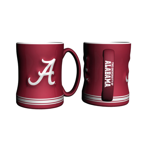 Alabama Crimson Tide NCAA College Logo Relief 14 oz. Mug - Dynasty Sports & Framing