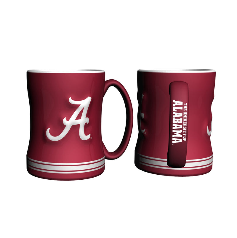 Alabama Crimson Tide NCAA College Logo Relief 14 oz. Mug