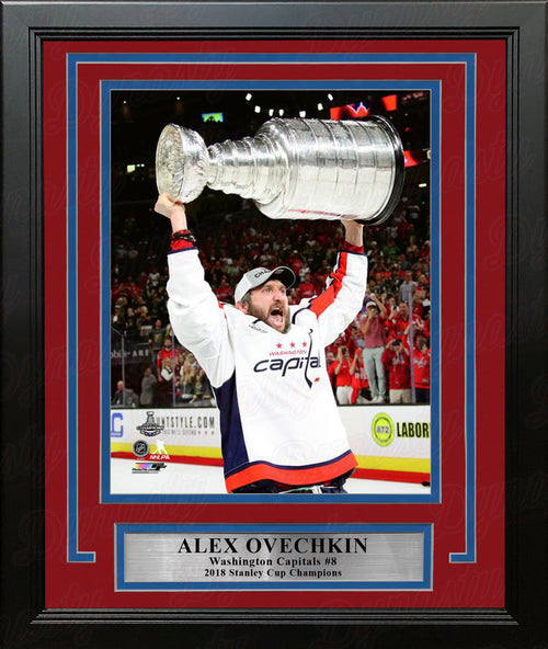 "Alex Ovechkin Washington Capitals 2018 Stanley Cup Champions 8"" x 10"" Framed Hockey Photo - Dynasty Sports & Framing"