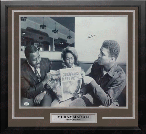 Muhammad Ali Autographed Framed Boxing Photo - Dynasty Sports & Framing