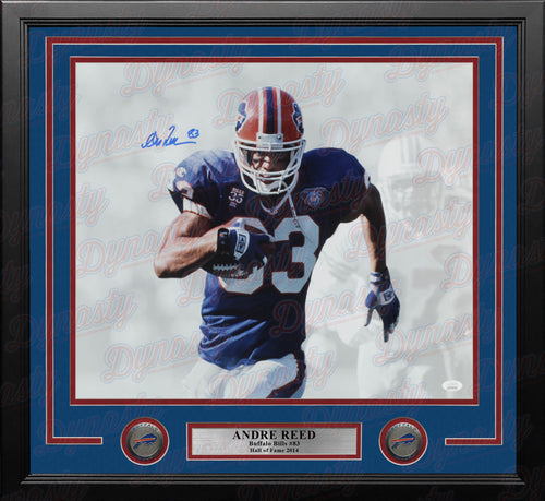 "Andre Reed Whiteout Buffalo Bills Autographed 16"" x 20"" Framed Football Photo - Dynasty Sports & Framing"