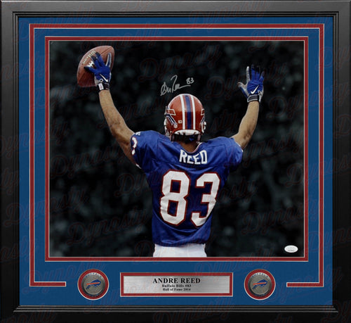 "Andre Reed Blackout Buffalo Bills Autographed 16"" x 20"" Framed Football Photo - Dynasty Sports & Framing"