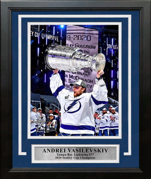 "Andrei Vasilevskiy 2020 Stanley Cup Tampa Bay Lightning 8"" x 10"" Framed Hockey Photo - Dynasty Sports & Framing"