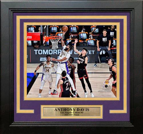 "Anthony Davis 2020 NBA Finals Slam Dunk Los Angeles Lakers 8"" x 10"" Framed Basketball Photo - Dynasty Sports & Framing"