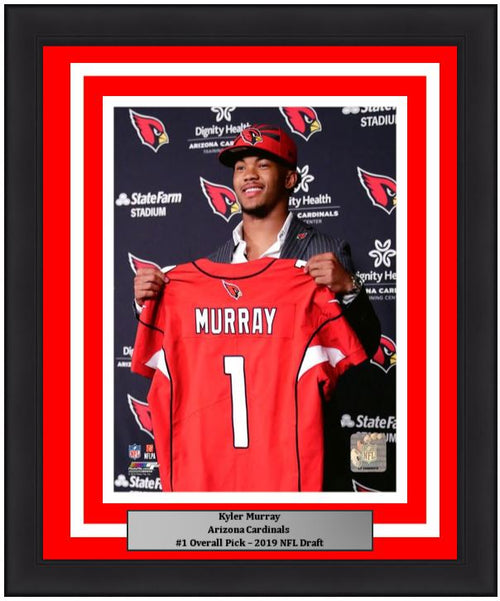 "Kyler Murray Arizona Cardinals 2019 NFL Draft Football 8"" x 10"" Framed and Matted Photo - Dynasty Sports & Framing"