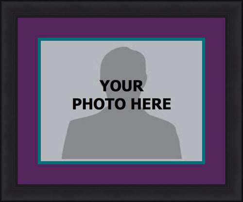 MLB Baseball Photo Picture Frame Kit - Arizona Diamondbacks (Purple Matting, Teal Trim) - Dynasty Sports & Framing