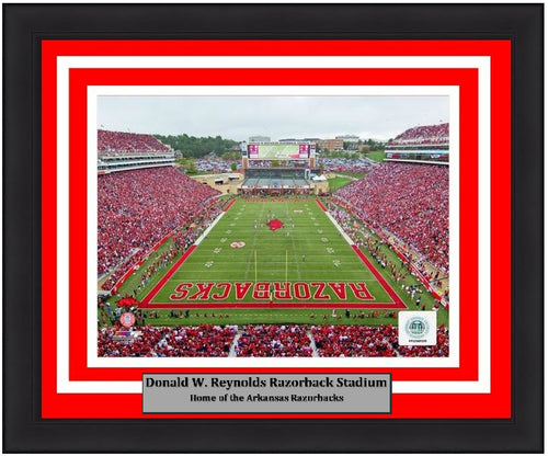 Arkansas Razorbacks Donald W. Reynolds Razorback Stadium 8x10 Framed College Football Photo - Dynasty Sports & Framing