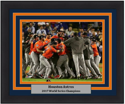 "Houston Astros 2017 World Series Celebration MLB Baseball 8"" x 10"" Framed and Matted Photo"
