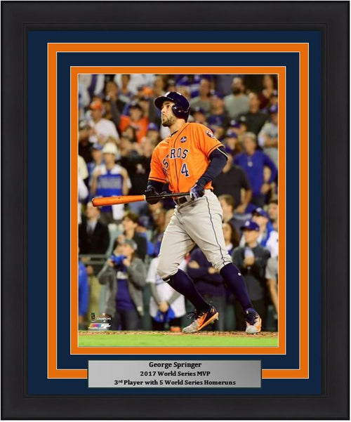 "Houston Astros 2017 World Series MVP George Springer MLB Baseball 8"" x 10"" Framed and Matted Photo"