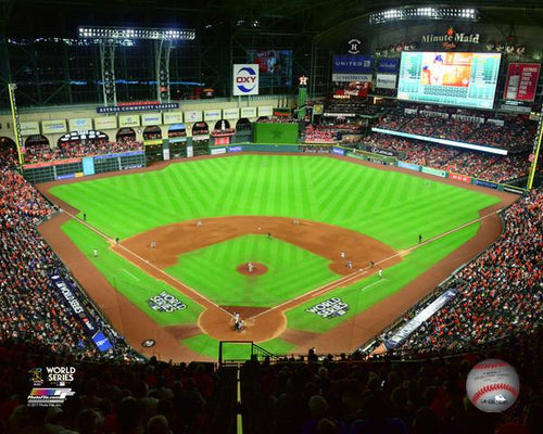 "Houston Astros 2017 World Series Game 5 at Minute Maid Park MLB Baseball 8"" x 10"" Photo"