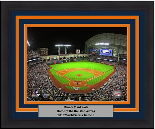 "Houston Astros 2017 World Series Game 5 at Minute Maid Park MLB Baseball 8"" x 10"" Framed and Matted Photo"