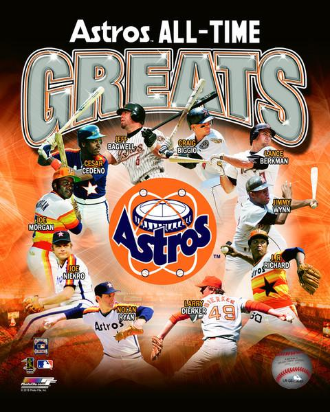 "Houston Astros All-Time Greats MLB Baseball 8"" x 10"" Photo"