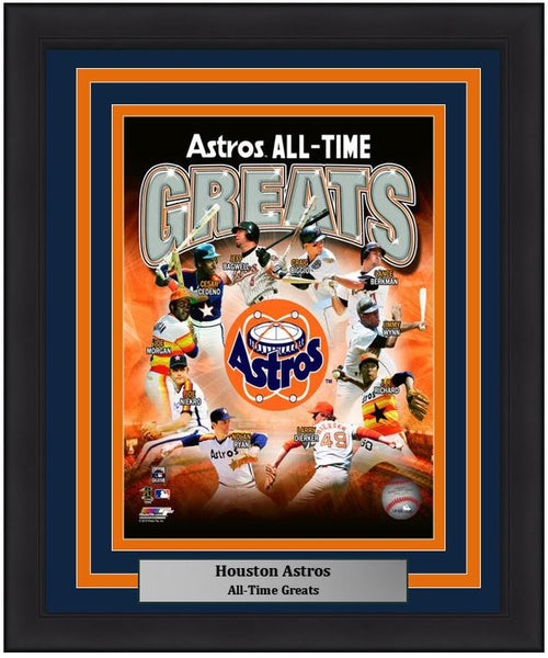 "Houston Astros All-Time Greats MLB Baseball 8"" x 10"" Framed and Matted Photo"