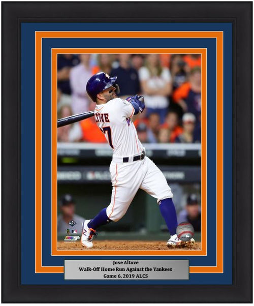 "Jose Altuve Astros 2019 ALCS Game 6 Walk-Off Home Run 8"" x 10"" Framed Baseball Photo"