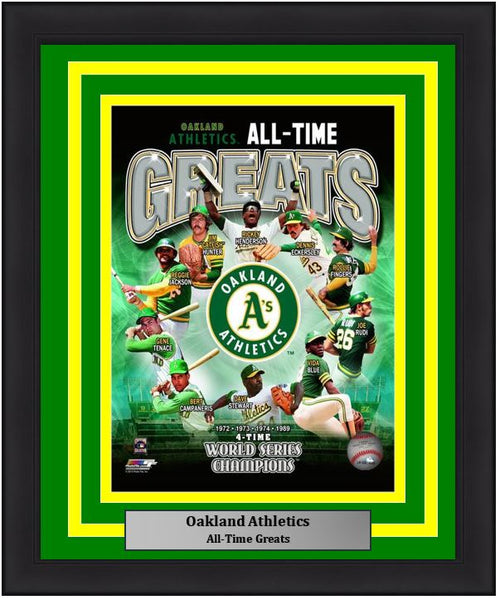 "Oakland Athletics All-Time Greats MLB Baseball 8"" x 10"" Framed and Matted Photo"