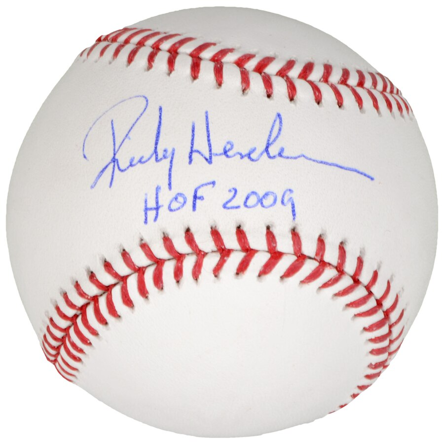 best service 69851 c00ad Rickey Henderson Oakland Athletics Autographed Official Major League  Baseball with Hall of Fame Inscription