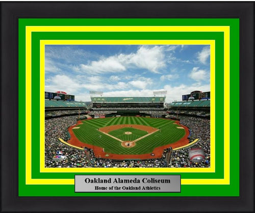 "Oakland Athletics Oakland Alameda Coliseum MLB Baseball 8"" x 10"" Framed and Matted Stadium Photo"