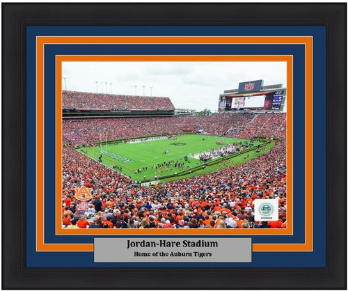 "Auburn Tigers Jordan-Hare Stadium NCAA College Football 8"" x 10"" Framed and Matted Photo - Dynasty Sports & Framing"